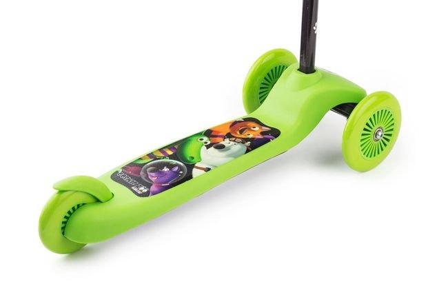 Detskiy Trehkolesniy Samokat Small Rider Cosmic Zoo Scooter Green5