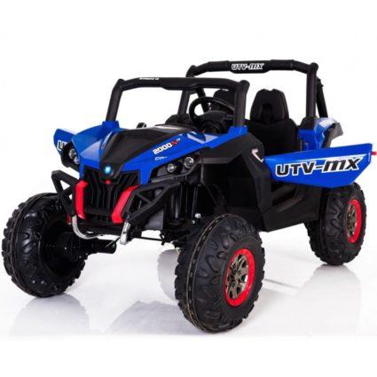 Электромобиль Buggy XMX603 синий (2х местный, полный привод, колеса резина, кресло кожа, пульт, музыка)